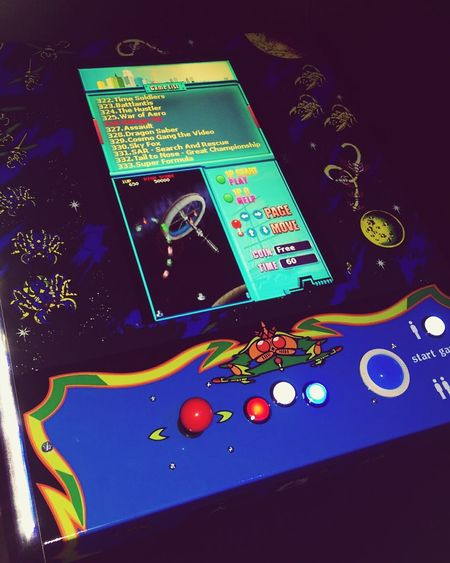 Galaga themed Multicade, 412 games in 1! Get your own, check out arcades4aid.com Arcade Arcade Games Multicade Mancave GALAGA  Retro Hanging Out Iovearcades Ilovethe80s Vintage Cool Gaming First Eyeem Photo