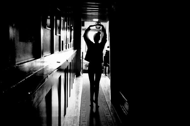 Blackandwhite Girl Ballerina