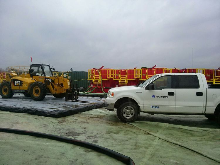 Ohio Pennsylvania Fracking Titans Of Industry water tanks on well site