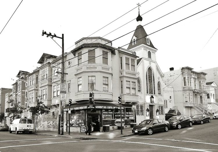Church and market a block away from Church and Market ... Market Church Church Street 15th Street Monochrome Black And White Castro San Francisco
