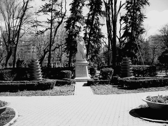 Cismigiu Gardens Bucharest, French Soldier Monument Check This Out Transmedia Storytelling Socialflotribute Cinematic Aimiamos UrbanexplorationUrbanphotography Photography Bucharest Exploring Bucharest Urban Public Places Black And White Photography Eyem Best Shots Historical Monuments Monuments Victory Monument