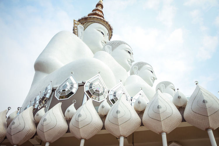 Buddhalism Thailand Travel Belief Buddha Statue Cloud - Sky Landmark Nature Outdoors Religion Sky White Color
