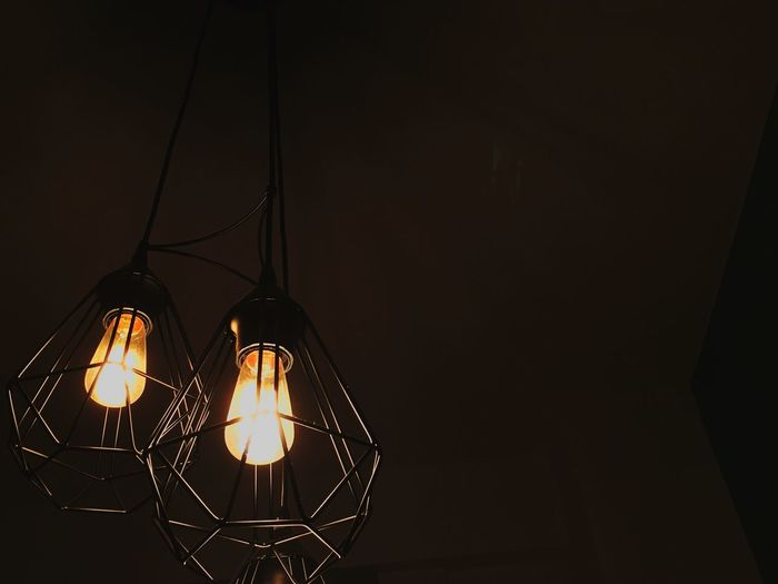 Lighting Equipment Illuminated Hanging Night Electricity  Low Angle View Lamp Lamps Tumblr No People Light Bulb Dark Built Structure Indoors  Check This Out Firts Eyeem Photo Taking Photos Taking Pictures Paper Lantern Black Background EyeEm New Here Lieblingsteil