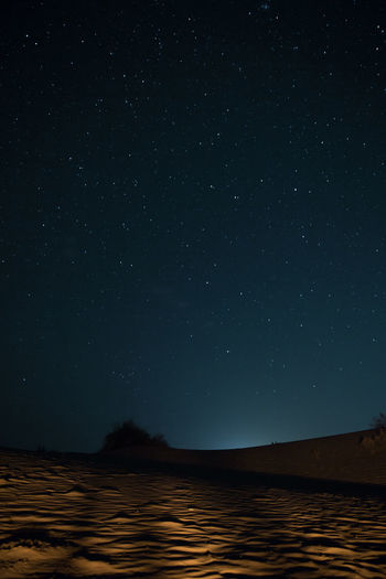 Desert India Astronomy Beauty In Nature Nature Night No People Outdoors Star - Space Travel,