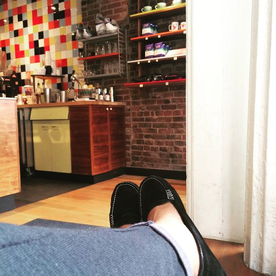 Ahhh....at Everyman Espresso on July 2, 2015 in New York City. Likecominghome