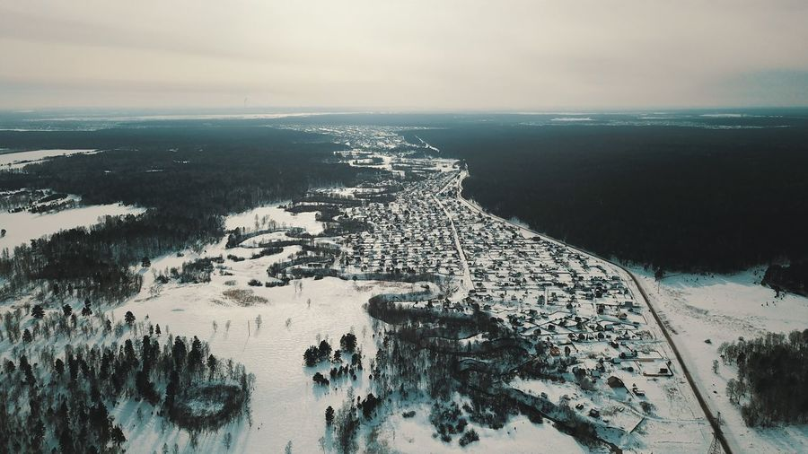 Голубая долина Beauty In Nature Scenics Nature Aerial View Sea High Angle View Cold Temperature Winter Tranquil Scene Water Landscape Sky Outdoors Mountain Travel Destinations Cloud - Sky Tranquility Snow No People Day