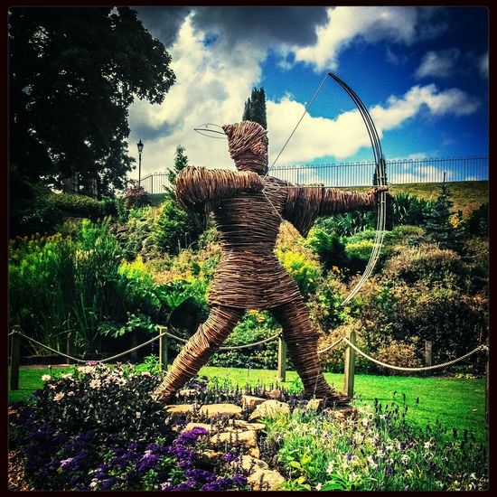 Nottingham Castle Robin Hood Family Day Out Wicker Work The Places I've Been Today