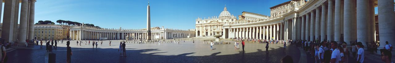 Travel Destinations Day Architecture Outdoors Place Of Worship Religion Monument Tourism Travel Spirituality VaticanCity City Rome Vacations King - Royal Person Moving Around Rome