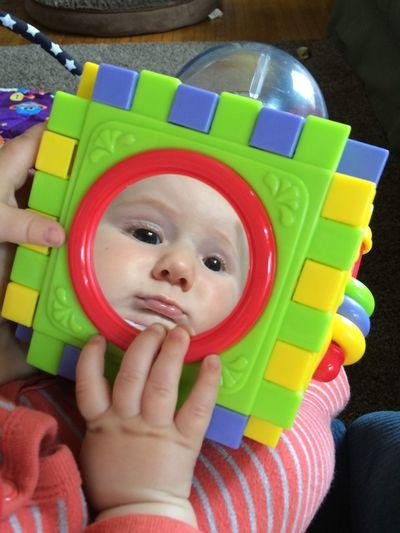 Cutest blockhead! Baby Baby Photo  Baby Reflection Baby Toy Baby Blocks