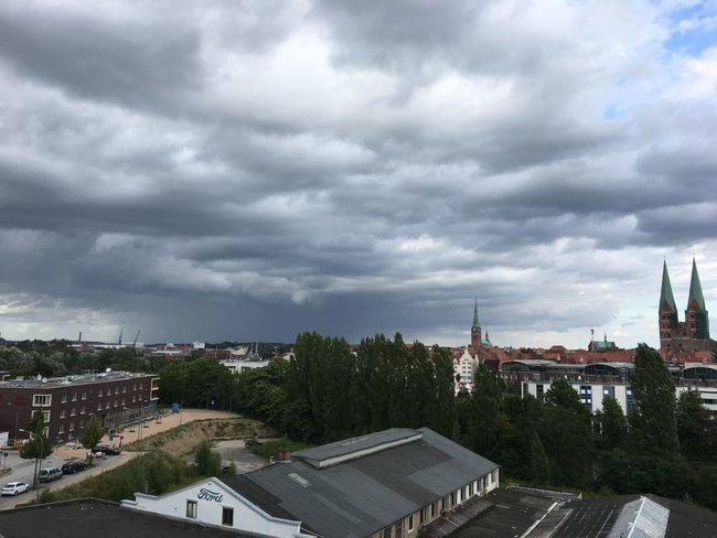 Lübeck ... My beautiful view at work 👩🏻‍⚕️ Architecture Working Nature Weather City Sky Tree Outdoors Lübeck Beauty In Nature Storm Cloud Building Exterior Built Structure