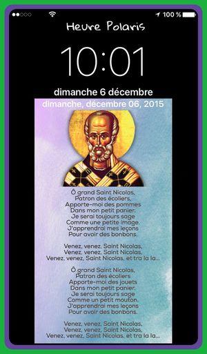10H01 bonne fête à tous les Nicolas, Nicole.... 😉🙏💜 HEURE POLARIS Saint Nicolas Hour Heure Clock Time 6 Décembre