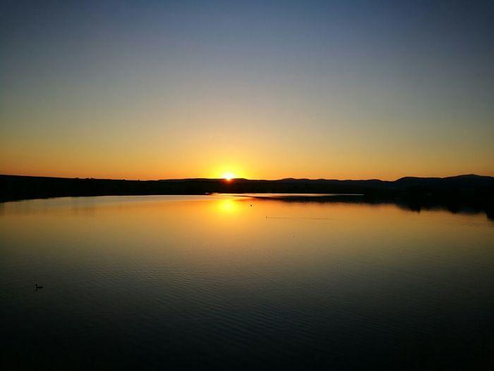 Lake Clear Sky Sunset Skyporn