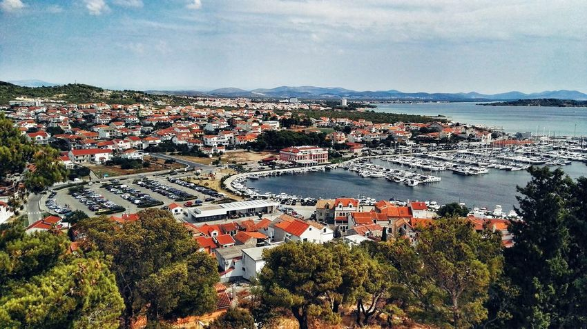 Landscape Houses Town Croatia Day From My Point Of View Holidays In Croatia Croatia 2017 From Where I Stand On The Way Summer Sea Vacations Mountains Adriatic Horizon Over Water Tribunj Outdoors Nature Travel Destinations Tree Sunny Day☀ (Tribunj, Croatia - August 2017)