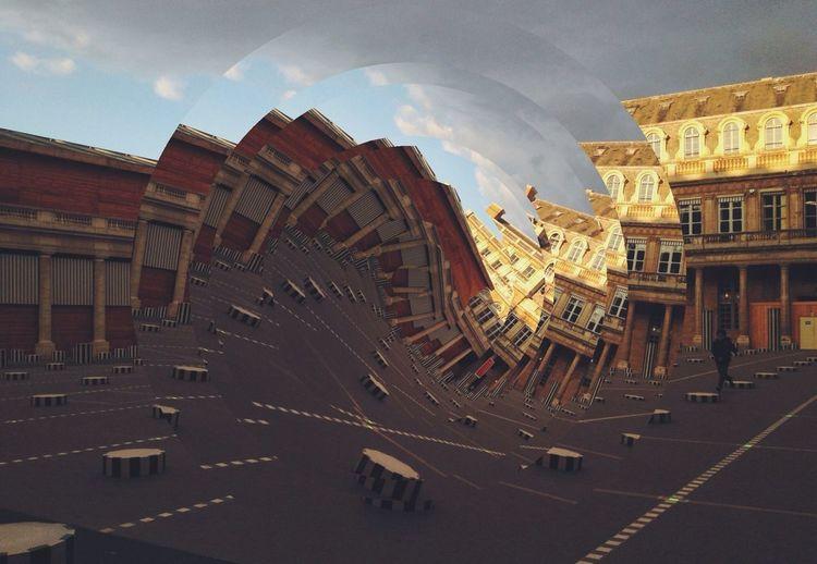 Polifragmented Parc Royale. Paris, France through Fragment app