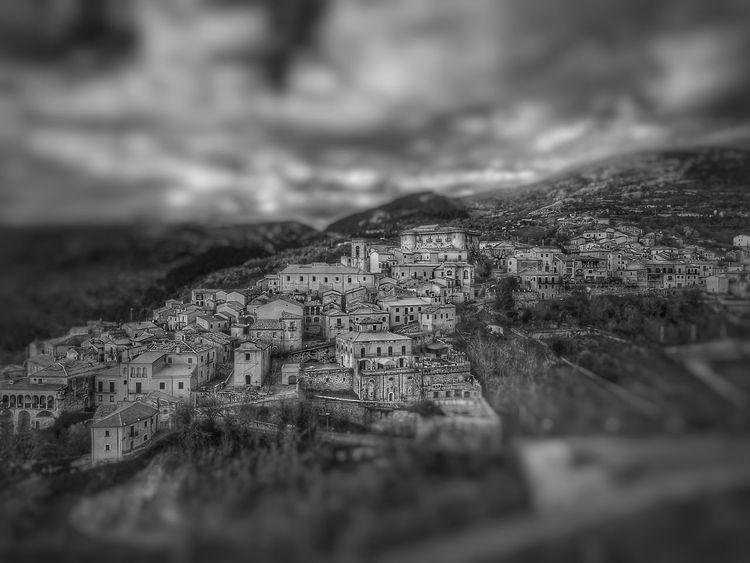 Macchiagodena in BW Macchiagodena Molise Italy No People Mountain Tilt-shift Built Structure Architecture Day Outdoors