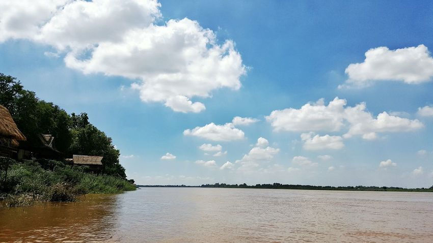 Cambodia Photos Mekong River Clouds And Sky Travel Landscape Cloudpark Lovely Weather Galaxy Note 5 Taking Photos Travel Photography Taking Photos Streamzoofamily