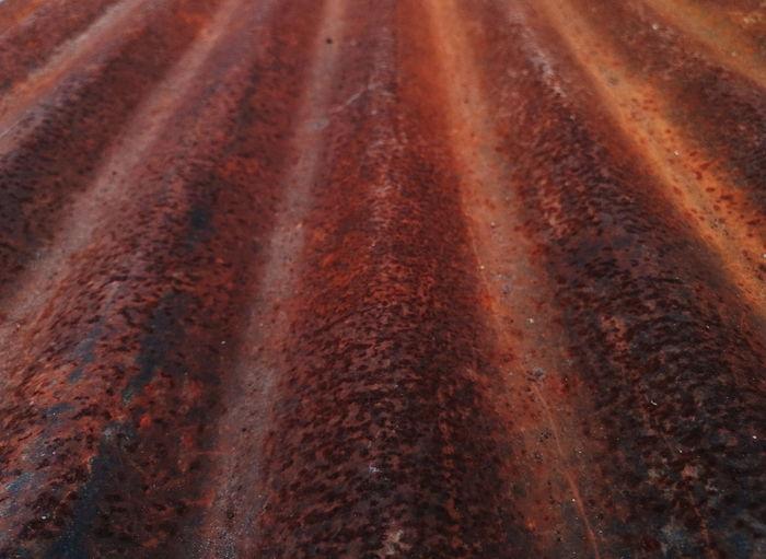 Full frame shot of rusty metal on field