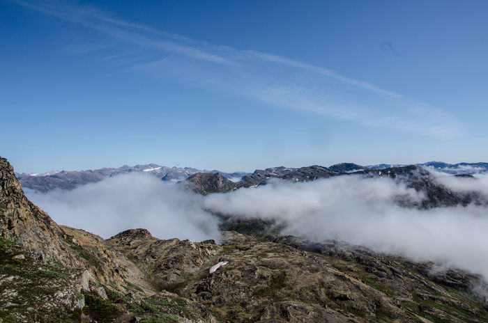 Above The Clouds Arctic Clouds And Sky Explore Greenland Landscape Mountains Panorama Sisimiut Traveling View