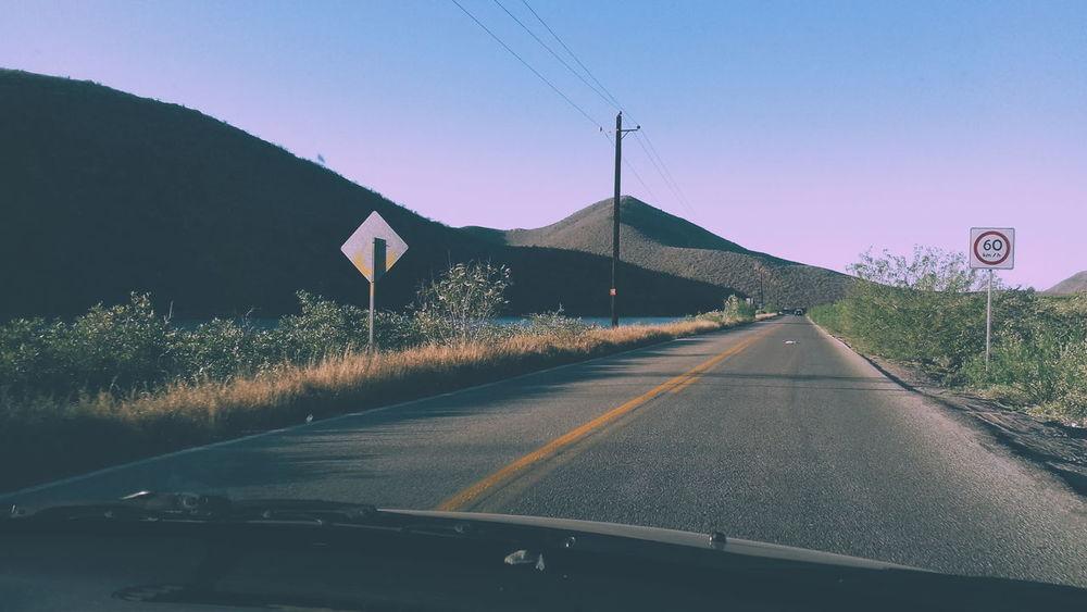 Soledad #soledad #Carretera Road Sky Radar Double Yellow Line Country Road Dividing Line First Eyeem Photo