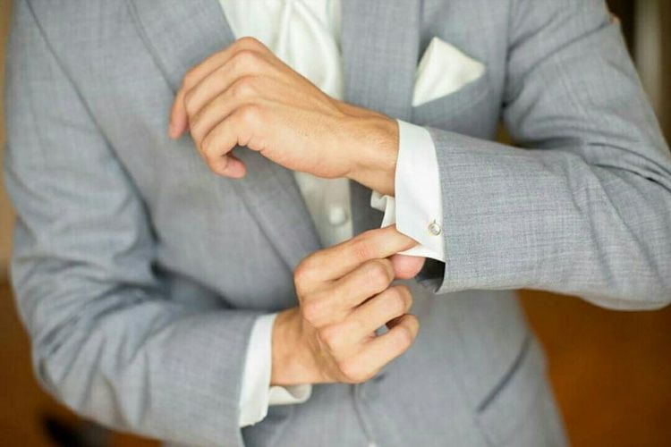 Button Up Wedding Suitandtie Hayleedennis