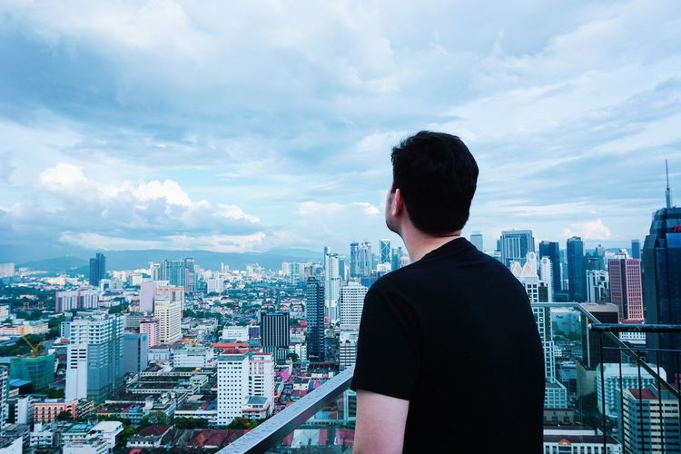 This moment catching my eyes Guy Blackshirt Black Aesthetics Skygazing Sky Cloud - Sky Malaysian Travel Photography Candid Photography Candid Love Eyecatching Malaysia Scenery Malaysia Truly Asia Sony Sonyphotography Sony Alpha Malaysia City Cityscape Urban Skyline Businessman Skyscraper Business Men Modern Business Finance And Industry Downtown District