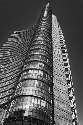 Gae Aulenti, Milan Architecture Building Exterior Built Structure City Low Angle View Modern No People Outdoors Sky Skyscraper Tall Tall - High Tower Travel Destinations Go Higher Adventures In The City