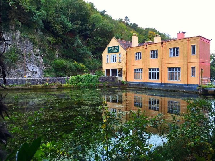 Cheddar Gorge. Somerset. UK. Taken with an iPhone. Cheddar Gorge Somerset England Water Reflections