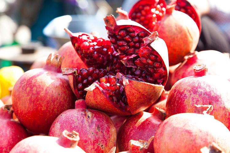 Close-up of pomegranates