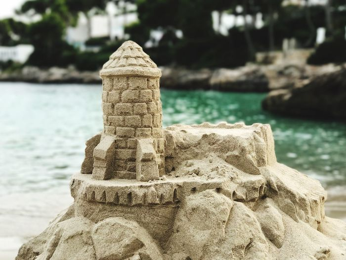 Castle Sand Beach Beachphotography Sandcastles Water Focus On Foreground Outdoors Day No People Close-up Sea Sculpture Nature