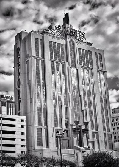 Resorts Atlantic City Architecture Building Exterior Built Structure Outdoors Cloud - Sky Sky Day Low Angle View City No People IPhone Photography IPhone7Plus Blackandwhite Bnwphotography Bnw_collection Atlanticcity Atlantic City Newjersey Acboardwalk Architecture Blackandwhite Photography IPhoneography Luxury Hotel