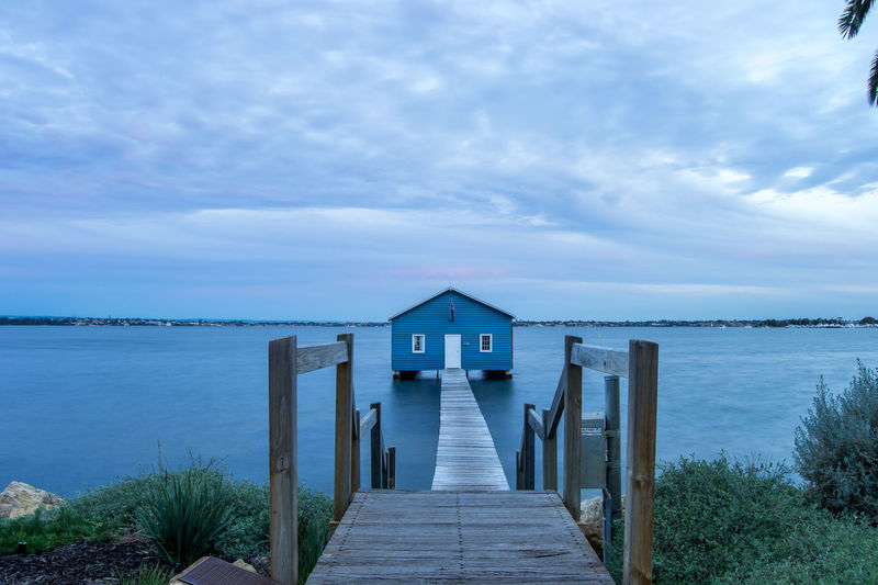 Water Sky Architecture Built Structure The Way Forward Scenics - Nature Pier Direction Beauty In Nature Tranquil Scene Sea Tranquility Wood - Material Nature Cloud - Sky Day No People Horizon Over Water Horizon Outdoors Wood Paneling Long Perth