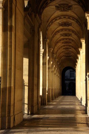 Ceiling Hallway Late Afternoon Louvre Paris Sunlight Travel Travel Destinations Vista EyeEmNewHere