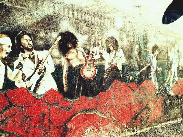 Urban Lifestyle Wall Murals Galway,ireland Galwayarts Axl Rose And Slash Bonovox Brianmay Rockstar