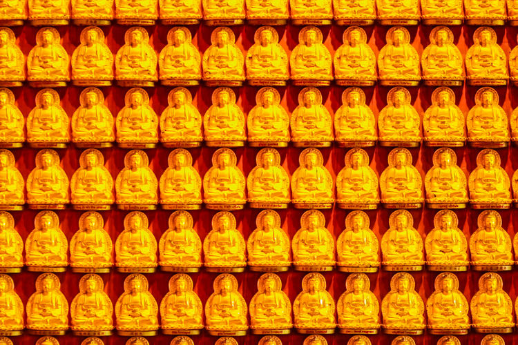 Beautiful Rows Of Golden Buddha Statues, Buddha series on the walat Wat Leng Nei Yi 2 in Nonthaburi, Thailand Buddha Series Buddha Statue In Thai Buddha Statues Golden Buddha Head Golden Buddha Image Nonthaburi Rowing Rows Of Golden Buddha Wat Leng Noei Yi 2 Abstract Abstract Art Abundance Arrangement Backgrounds Buddha Statue Buddha Statue Color Gold Buddha Statue Temple Buddha Statue Thailand Choice Close-up Day Food Food And Drink For Sale Freshness Full Frame Golden Buddha Golden Buddha Statue Golden Buddhas In A Row Indoors  Large Group Of Objects No People Order Price Tag Repetition Retail  Row Rows Rows Of Things Shelf Store Supermarket Yellow