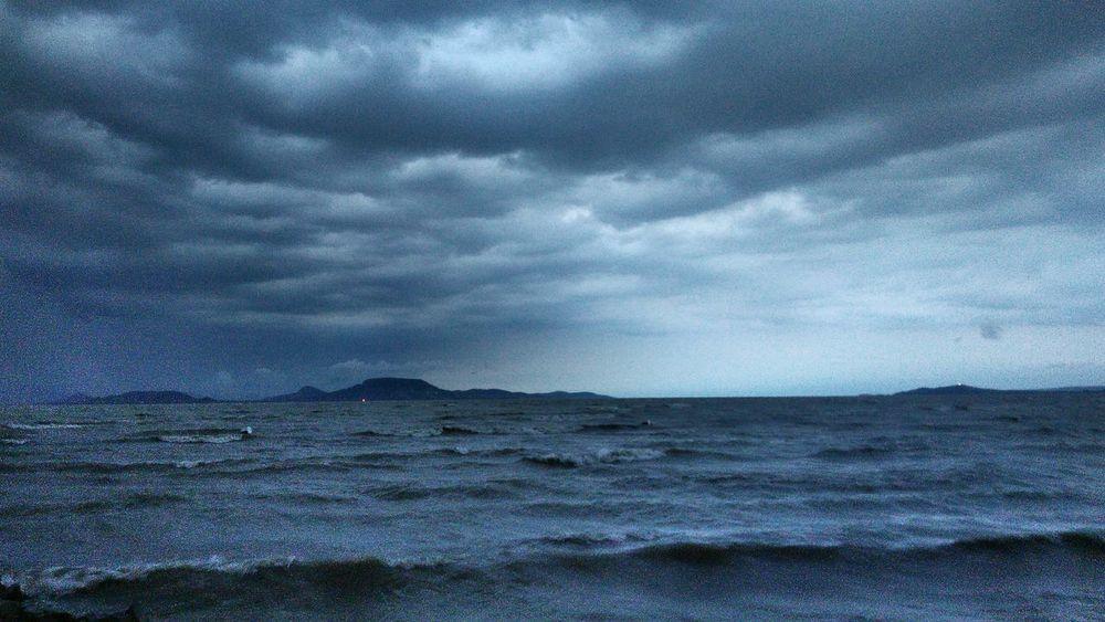 Nature Cloud - Sky Outdoors No People Balaton - Hungary Storm Storm Cloud Storm Clouds Stormy Lake Dusk Waves