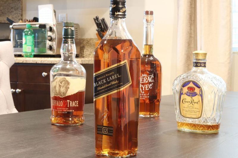 Whiskey selection Bottle Of Whiskey Bottle Bottles !!!! Bottles Collection Crown Royal Buffalo Trace Johnny Walker Blue Label Johnny Walker Whiskey Bottle Western Script Text Indoors  Communication Variation No People Large Group Of Objects Close-up
