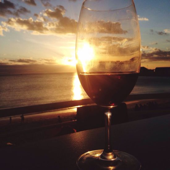Sunset_collection Sunset Sunset #sun #clouds #skylovers #sky #nature #beautifulinnature #naturalbeauty #photography #landscape Beautiful Wine Beach Sunset And Clouds  Perfect Glass Glasses