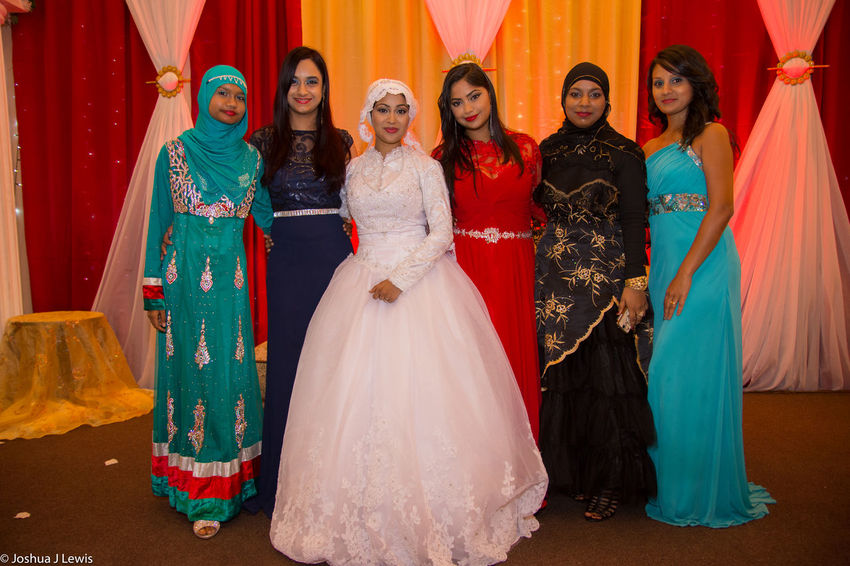 Friendship Standing Togetherness Group Of People Religion Bride Caribbean Stillife Love Muslimwedding Life Events Trinidad And Tobago Beautiful Celebration Happiness Wedding Dress Beautiful People Smiling