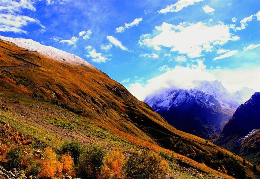 Caucasus Russia Clouds And Sky Dombai Karachaevo Circassia