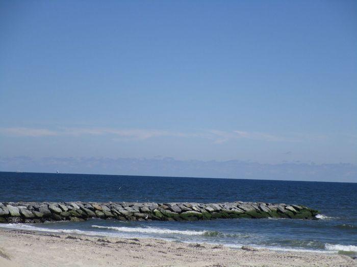 Ahhh , jetty after restorative repairs! Scenics Water Rocks Tranquil Scene
