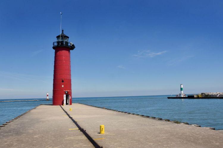 Kenosha  Kenosha Lighthouse North Pierhead Light Architecture Building Built Structure Lighthouse Lighthouses Of Lake Michigan No People Sea Tower Water
