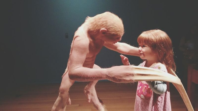 "Trust & kindness in Patricia Piccinini's ""The Welcome Guest"" Comciencianoccbb Sculpture Hyperrealism"
