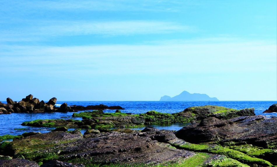 EyeEm Sea Rock - Object Nature Beauty In Nature Scenics Horizon Over Water Water Sky Day No People Beach Blue Outdoors