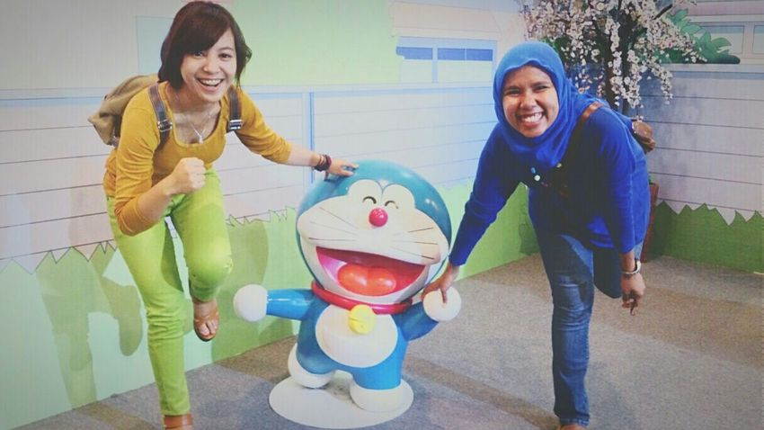 None can hide, the happiness of childhood memories ?? at Doraemon100expo