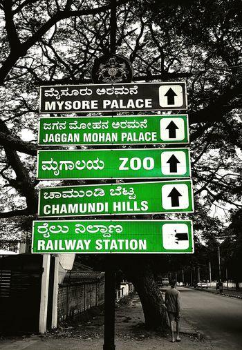 Travel Signs Streetscene Streetphotography India Karnataka Mysore Blackandwhite HuaweiP9