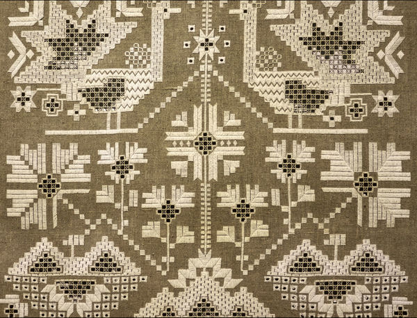 Carpet with ukrainian ornament Architecture Art Carpet Creativity Diminishing Perspective Folk Fountain Full Frame Handmade Modern Ornament Pattern Ukraine Ukrainian