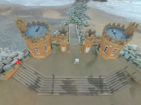 Withernsea Pier Towers Drone  Dronephotography East Yorkshire Seaside Beach From The Air Looking Down The Architect - 2016 EyeEm Awards