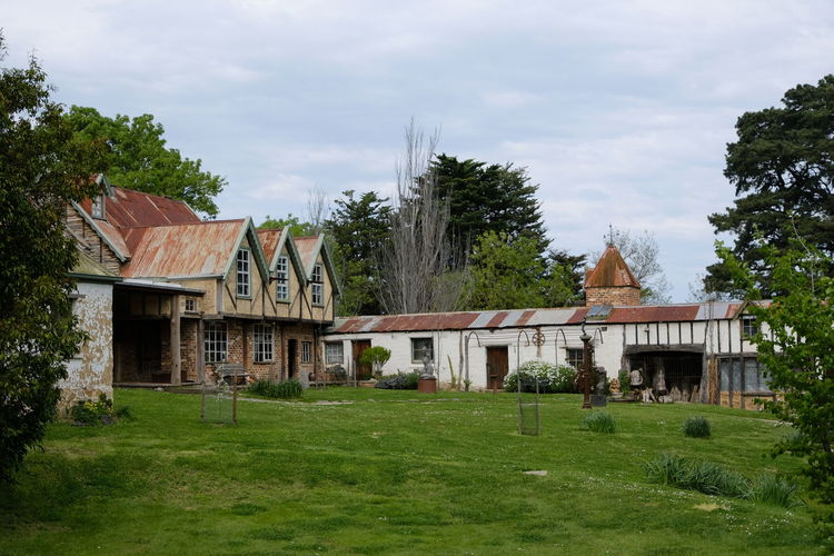 Shot at Montsalvat, Eltham. Architecture Building Exterior Built Structure Cloud - Sky Day Grass Green Color House No People Outdoors Sky Tree