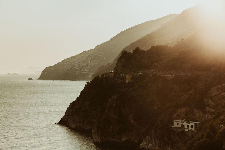 Amalfi Coast, Italy Amalfi Coast Positano Positano, Italy Italy Mountain Scenics - Nature Water Sky Tranquil Scene Sea Tranquility Beauty In Nature No People Nature Land Non-urban Scene Day Beach Built Structure Architecture Rock Outdoors Clear Sky