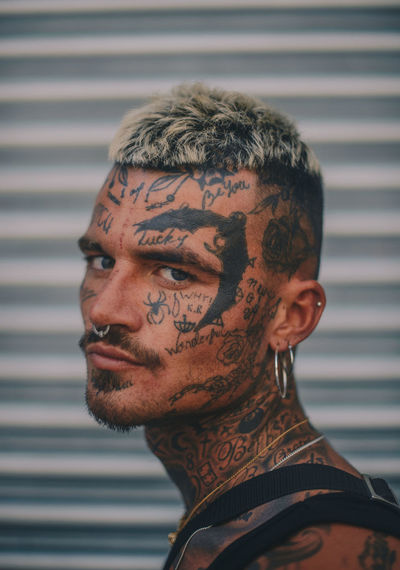 Mr love Portrait Headshot One Person Young Adult Young Men Tattoo Lifestyles Real People Looking At Camera Close-up Beard Men Males  Facial Hair Hairstyle Mid Adult Focus On Foreground Human Body Part Pierced Human Face